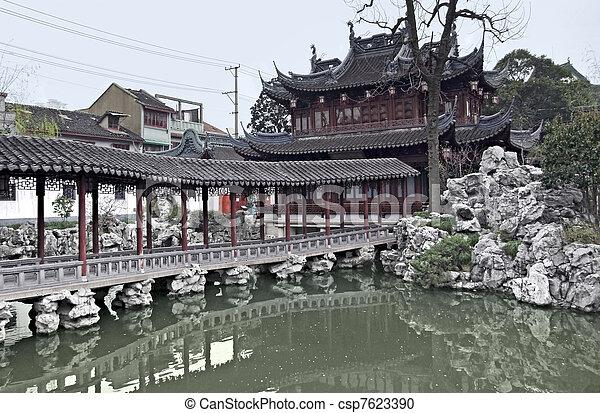 Yuyuan Garden in Shanghai - csp7623390