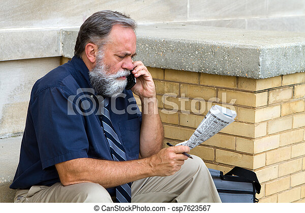 Man Seeking Employment - csp7623567
