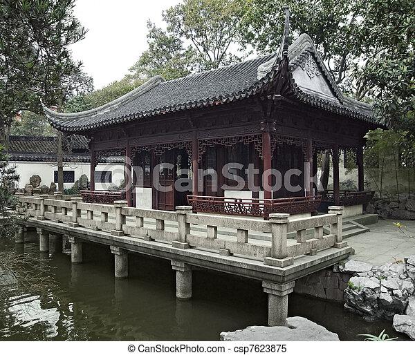 Yuyuan Garden in Shanghai - csp7623875