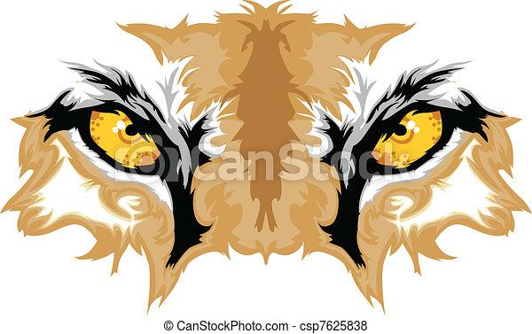 Cougar Eyes Mascot Graphic - csp7625838