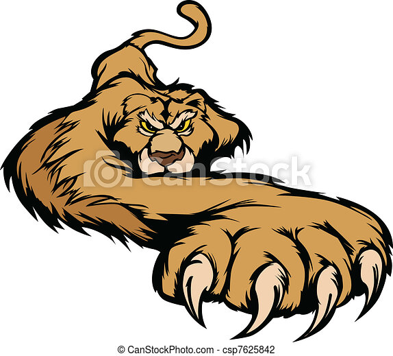 Cougar Mascot Body Prowling Vector  - csp7625842