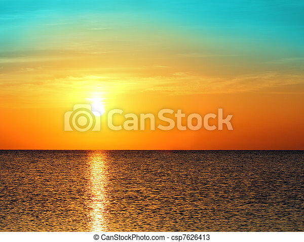 sunrise over sea - csp7626413