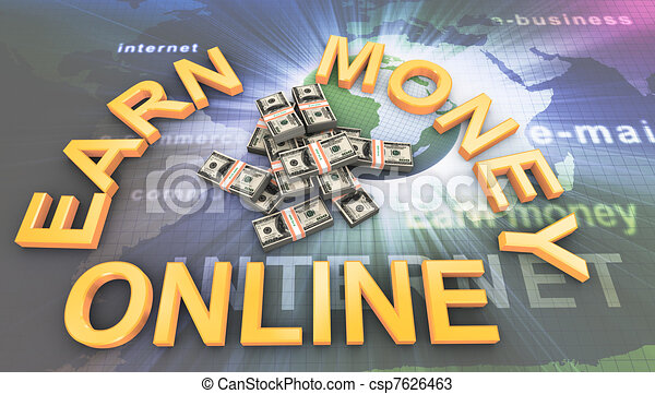 Making money online - csp7626463