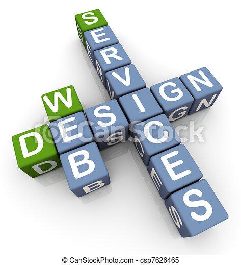 Crossword of web design services - csp7626465
