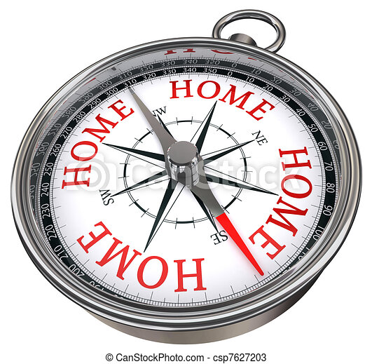 road is my home concept compass - csp7627203
