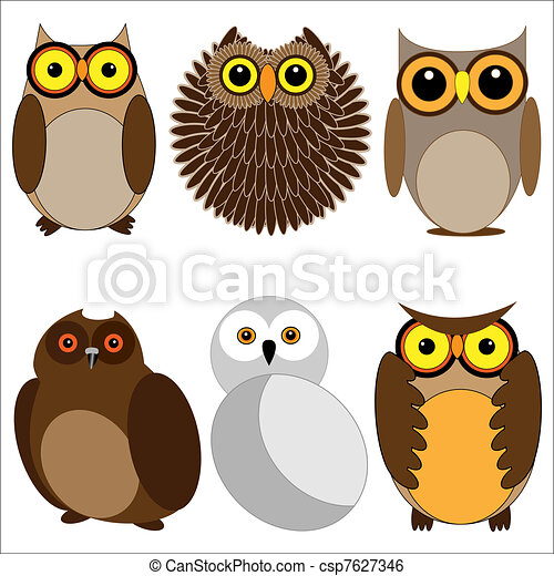 Set of different owls - csp7627346