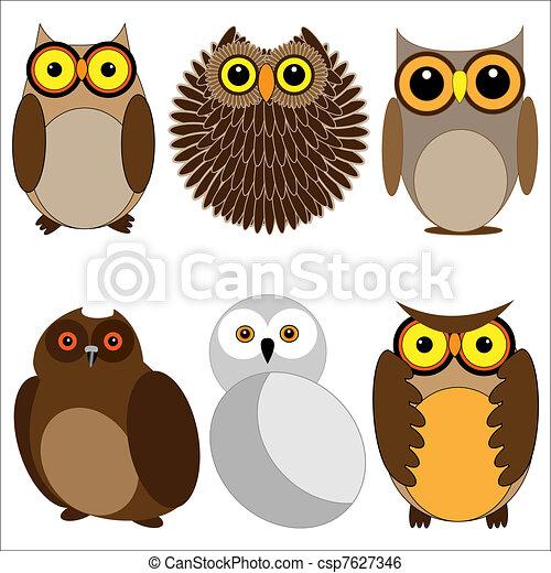 Set of different owls - csp7627346