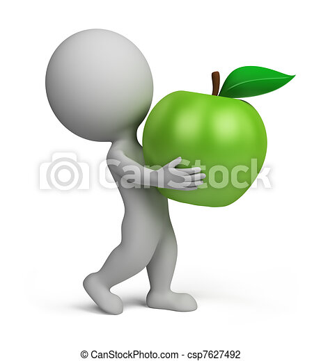 3d small people - apple - csp7627492