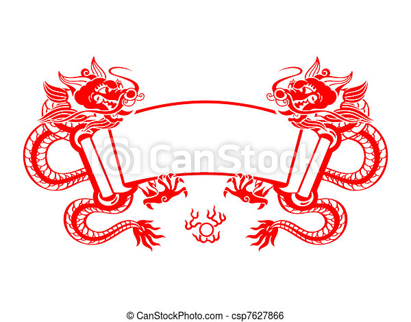Dragon Year scroll - csp7627866