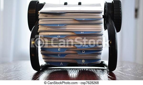 Business card holder general - csp7628268