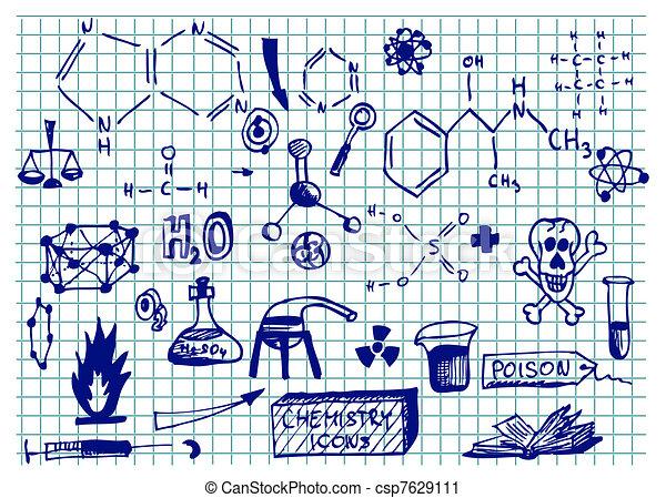 chemistry icons  - csp7629111