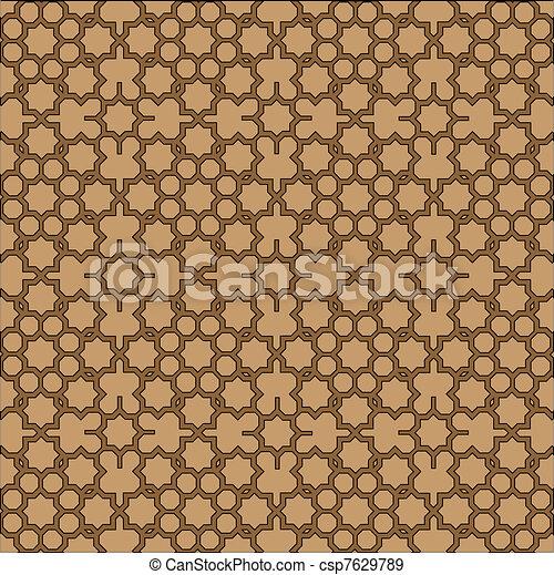 Islamic geometric background. - csp7629789