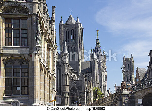 Ghent Churches, Belgium - csp7629863