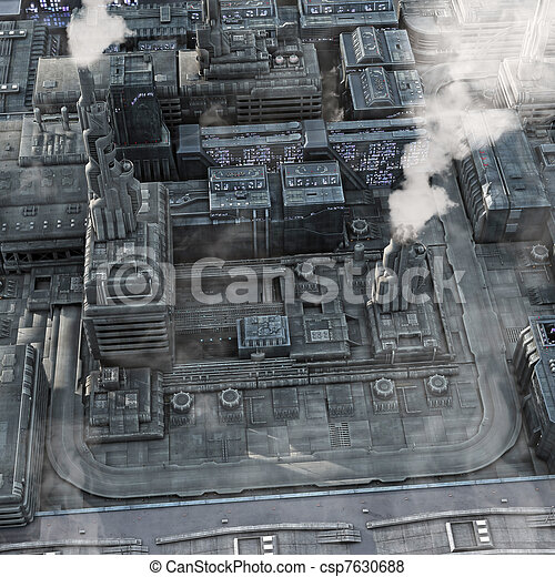 Future Industrial City - csp7630688