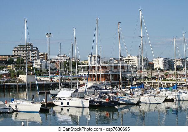 Cattolica Marina, Romagna, Italy - csp7630695