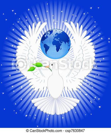 Dove of Peace. - csp7630847