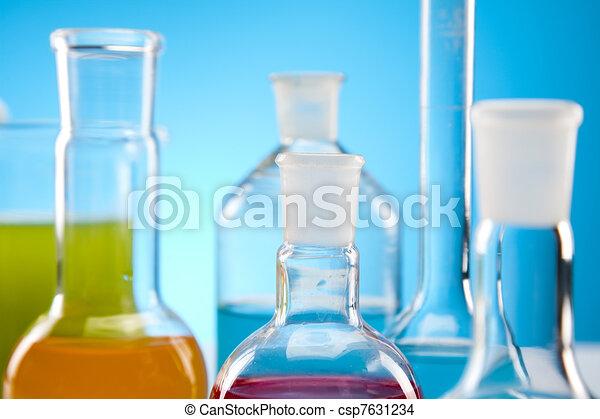 Biochemistry Laboratory and glass  - csp7631234