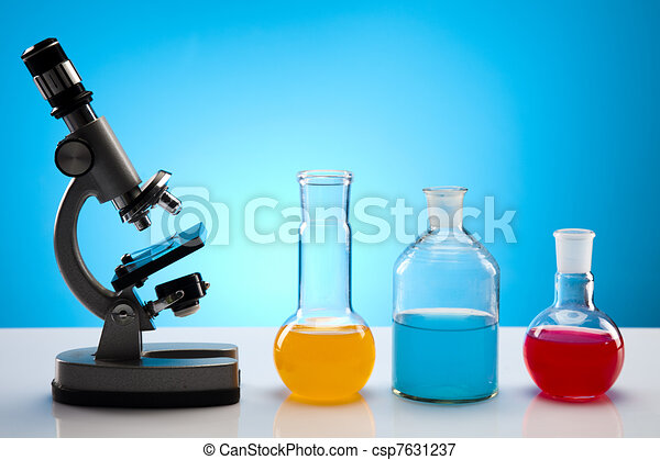 Biochemistry Laboratory and glass  - csp7631237