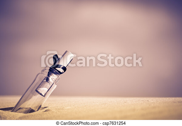 message in a bottle - csp7631254