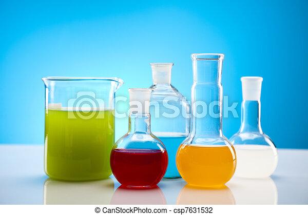Biochemistry Laboratory and glass  - csp7631532
