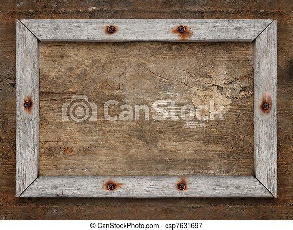 image de vieux bois cadre sur brun sale vieilli mur csp7631697 recherchez des. Black Bedroom Furniture Sets. Home Design Ideas
