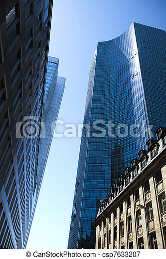 Buildings in perspective - csp7633207