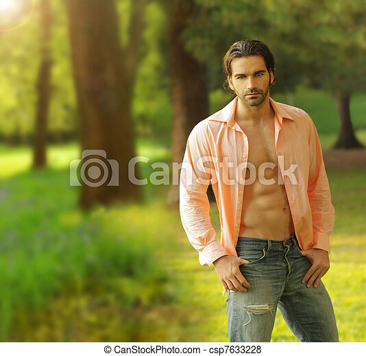 Male model outdoors - csp7633228