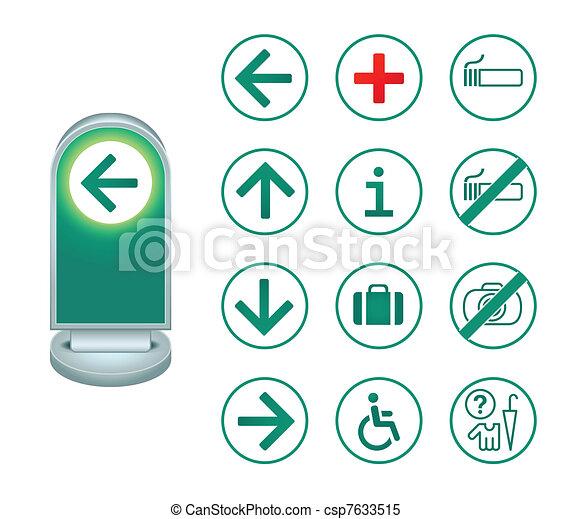 Information signs - csp7633515