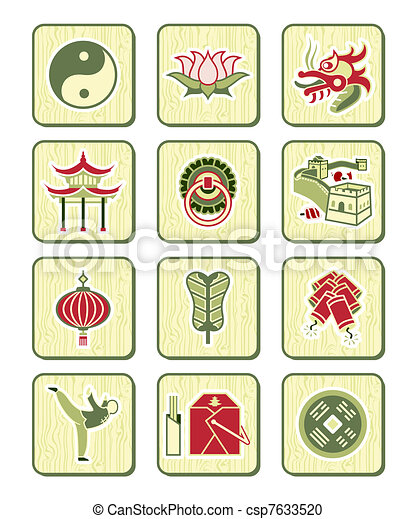 Chinese icons | BAMBOO series - csp7633520