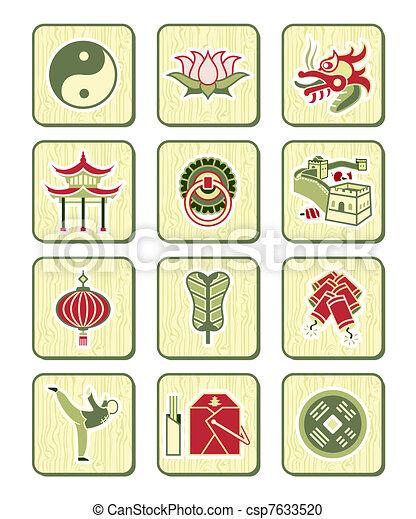 Chinese icons | BAMBOO series - csp7633520