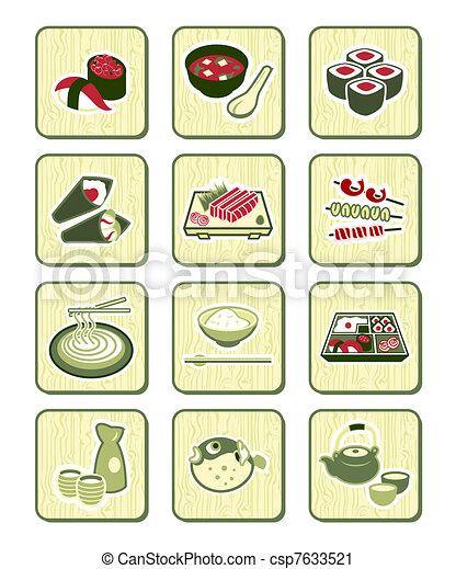 Japanese sushi-bar icons | BAMBOO - csp7633521