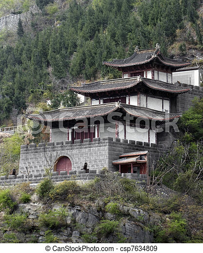 traditional building near Yangtze River - csp7634809