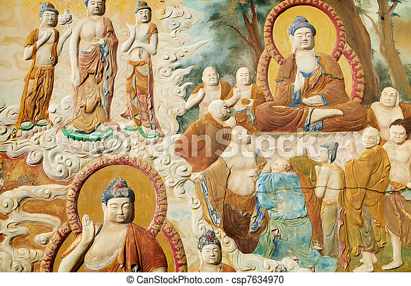 Buddhism picture - csp7634970