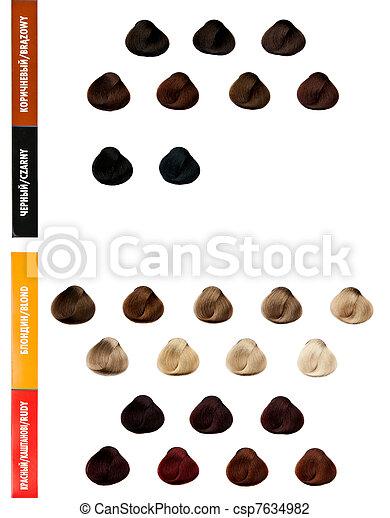 Stock foto van professioneel palet haar kleuren kleur selectie csp7634982 zoek naar stock - Kleur selectie ...
