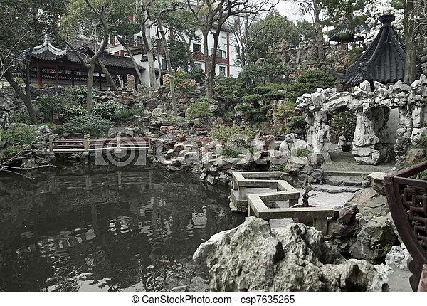 Yuyuan Garden in Shanghai - csp7635265