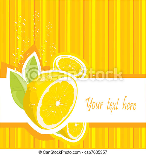 Fresh lemon menu - csp7635357