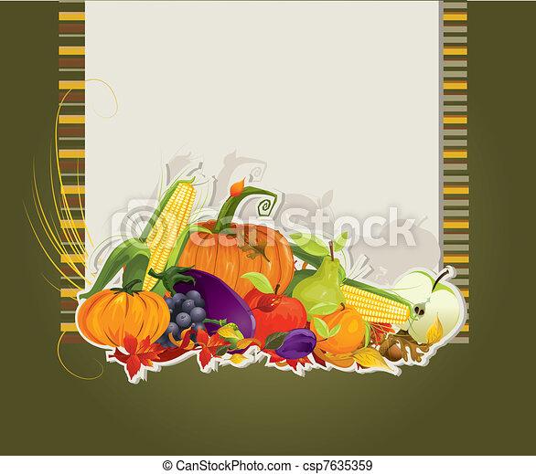 harvest card  - csp7635359