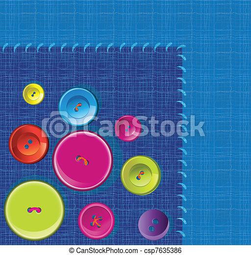 Needle, button, thread background - csp7635386