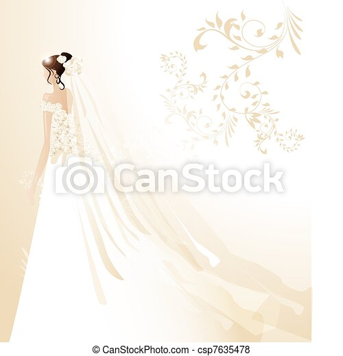 Beautiful bride  - csp7635478
