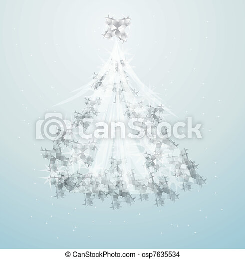 artistic christmas tree design illustration - csp7635534