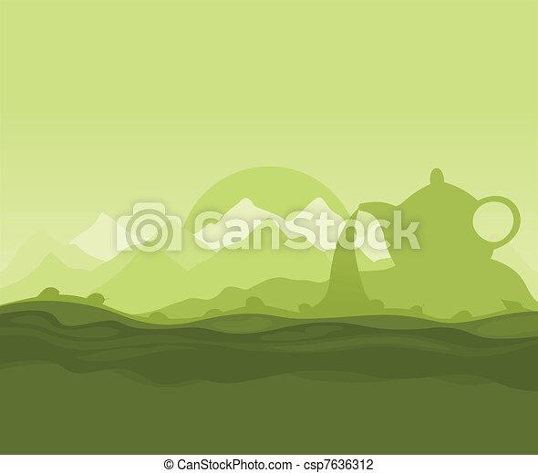 Tea landscape - csp7636312