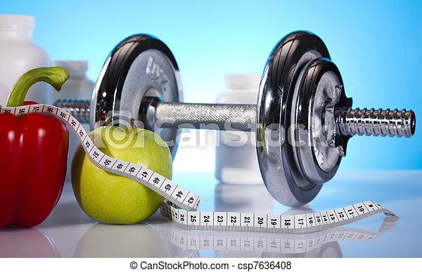 vikt, förlust,  fitness - csp7636408