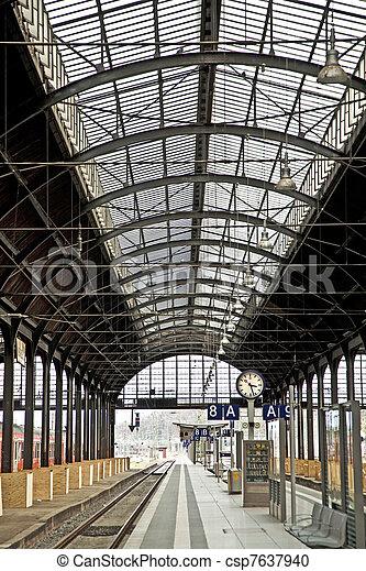 station, intérieur,  train, fer, classique - csp7637940