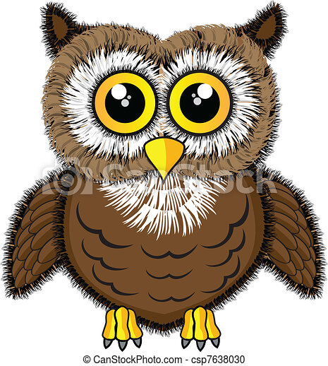 Cute looking owl - csp7638030