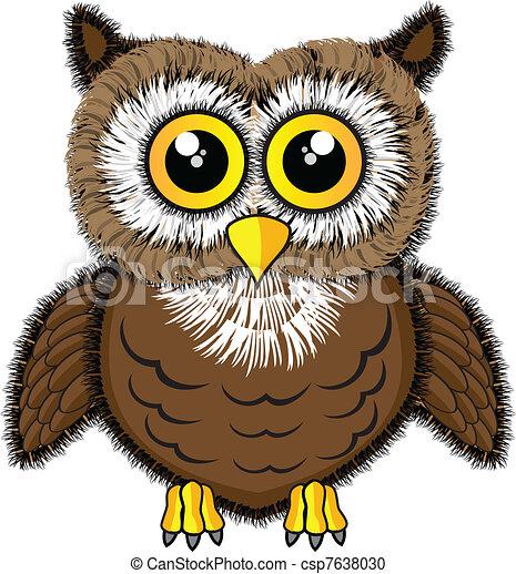 Cute looking owl - csp7638030