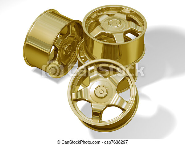 four golden big rims without brand - csp7638297