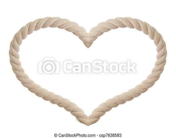 rope in the shape of heart isolated - csp7638583