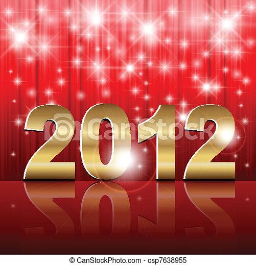 New Year 2012 background - csp7638955