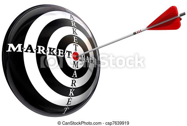 targeted marketing conceptual image - csp7639919