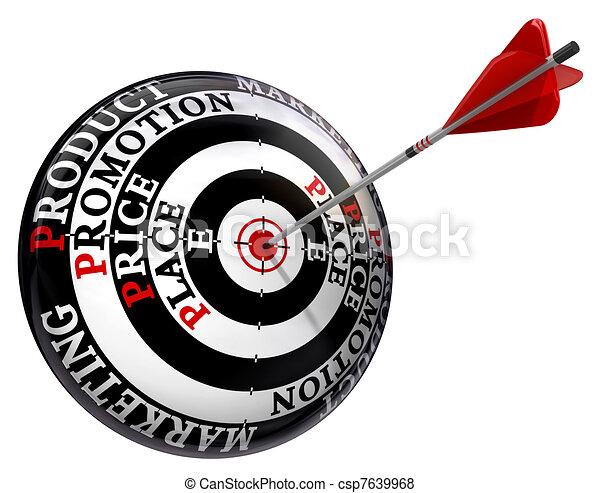 four p marketing principles on target  - csp7639968